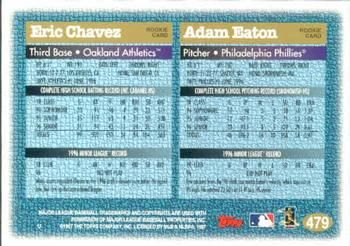 1997 Topps #479 Eric Chavez / Adam Eaton Back