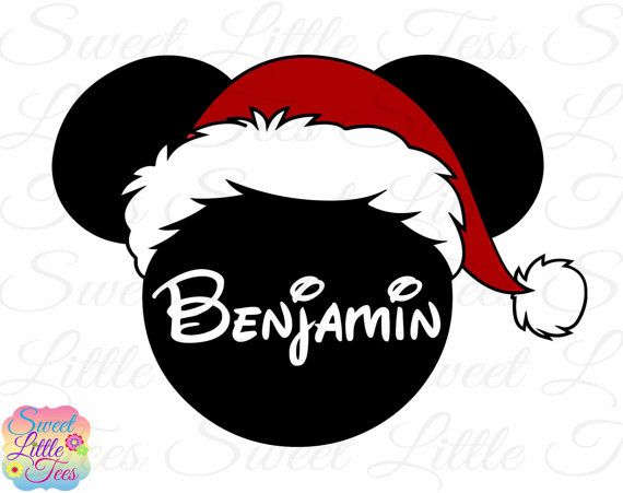 268779a702fda ON SALE Mickey Mouse Christmas inspired with Santa Hat Printable Iron On  Transfer- DIY Disney Shirt Mickeys Very Merry Christmas Party  64
