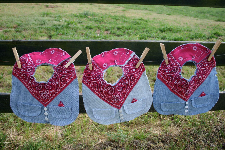 western baby bib, toddler bib, hot pink bib, 1st birthday bib, baby girl bib, baby gift, 1st birthday gift by Inspiredtolive on Etsy