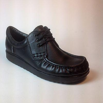 ECCO JOKE Mens US 10.5, EU 44 Lace-Up Shoe, Black Leather Oxfords