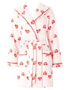 Snuggle up together with this cutsie heart dressing gown from ...