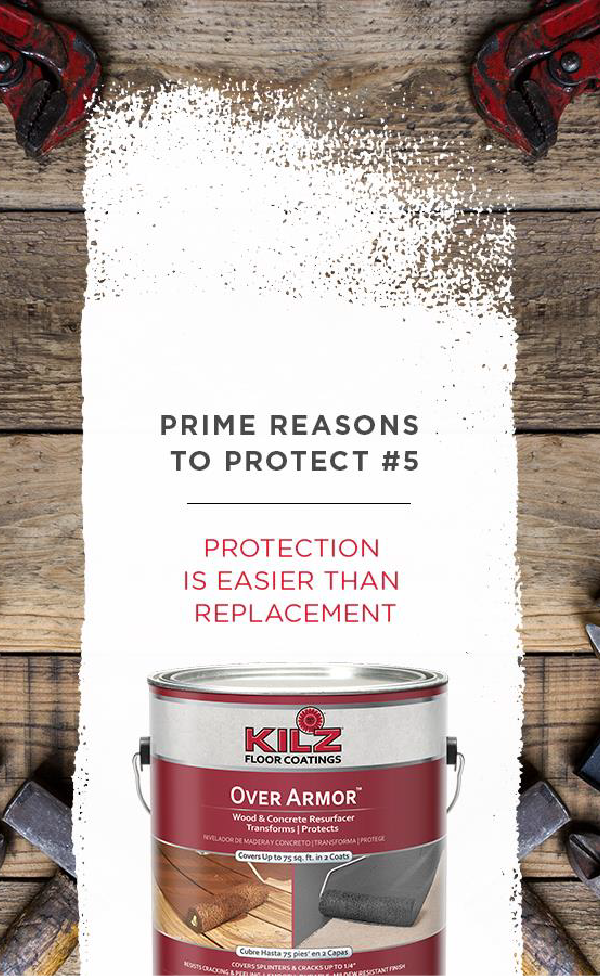 Kilz Over Armor Smooth Is A Solid Color Smooth Coating Designed To Cover Cracks And Give Old Weathered Wood A Unifo Concrete Wood Exterior Decor Holiday Ready