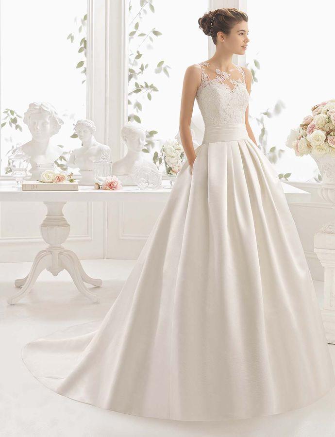 Partes de un vestido de novia