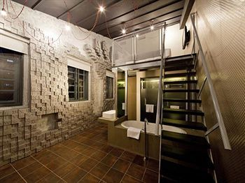 Cool idea for a studio unit!  This themed-hotel called Wanderlust is in Singapore.