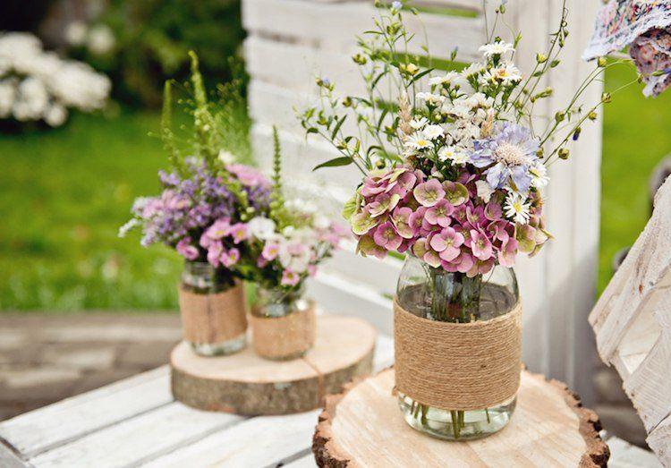 103 idées de déco mariage champêtre - atmosphère naturelle et romantique | Country wedding ...
