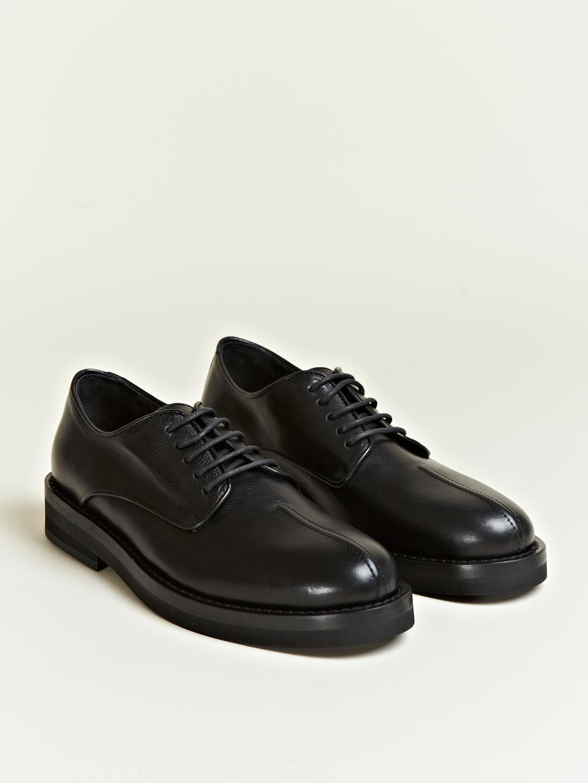 b94e9224add251 Ann Demeulemeester Men s Vitello Lux Derby Shoes
