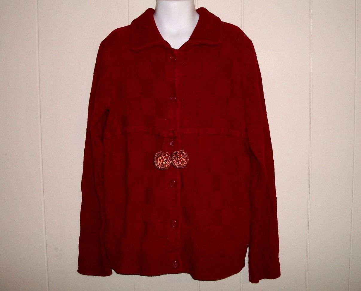 Gymboree Purrfect Autumn Girls Red Sweater Size 10 - 12
