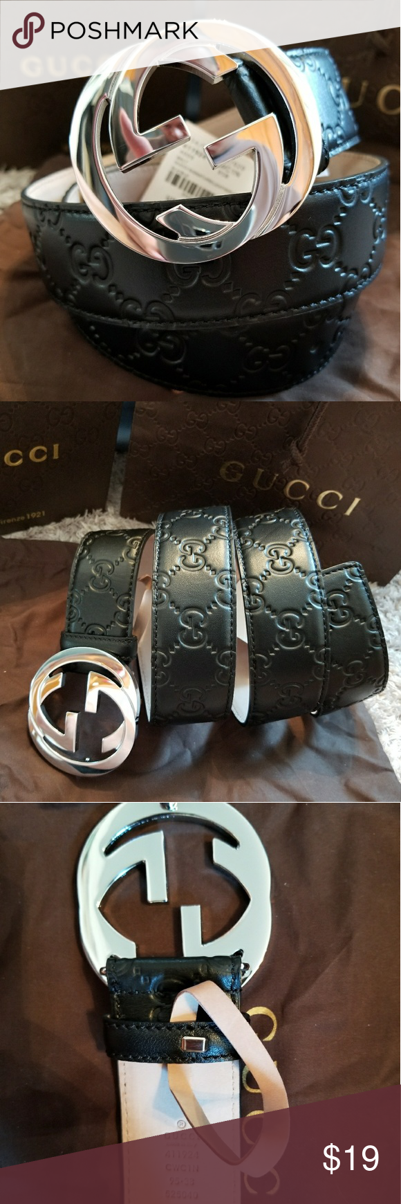 ff91479d61f 😎Authentic Gucci Belt Red Guccissima Supreme 😎Authentic Gucci Belt Red  Guccissima Supreme Print with Silver GG Buckle. -Comes with tags