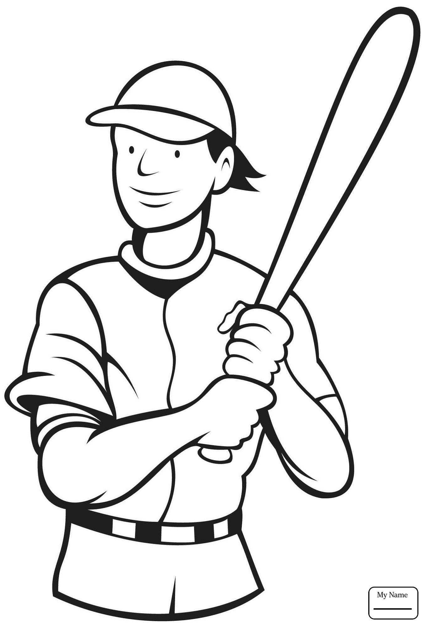 Jackie Robinson Coloring Page Cartoon Sports Coloring Pages