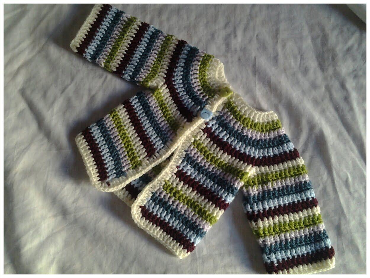 Jersey de bebe chambrita crochet #tutorial 2 | Patterns | Pinterest