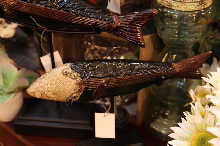 gifts for fisherman / fishermen / decorative ornate detailed fish figurine on stand