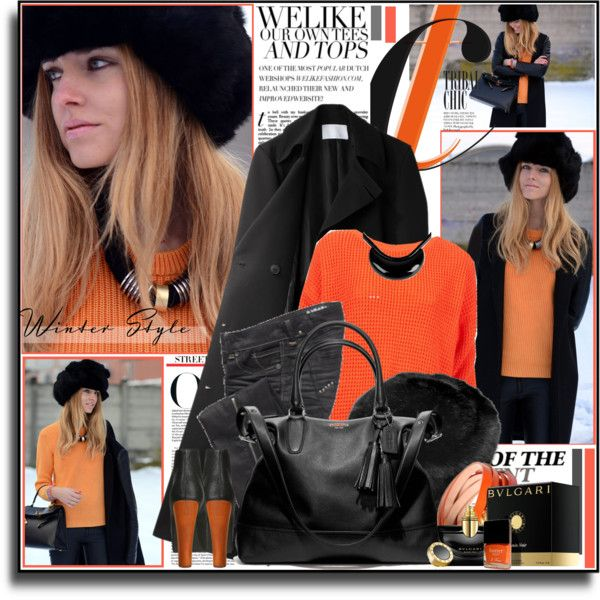 """orange (04.01.2013)"" by d-e-s-i ❤ liked on Polyvore"