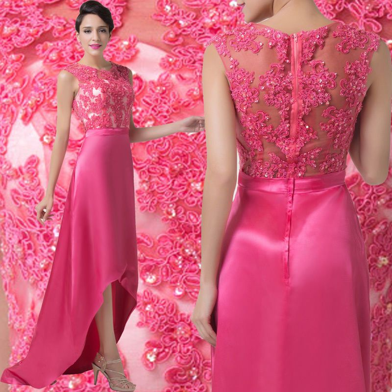 Women Lace Long Evening Formal Party Dress Pageant Wedding ...