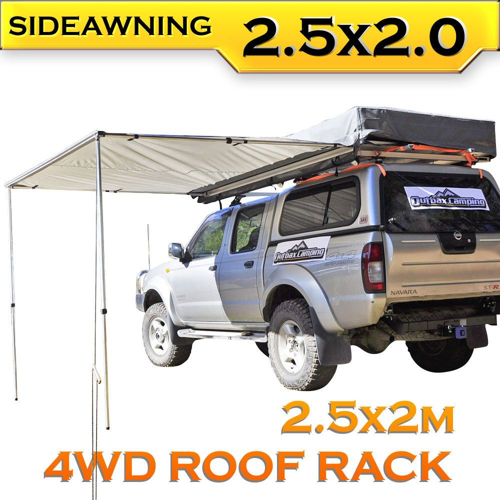 2.5M AWNING ROOF TOP TENT CAMPER TRAILER 4WD 4X4 SIDE CAMPING CAR RACK Pull Out  sc 1 st  Pinterest & 2.5M AWNING ROOF TOP TENT CAMPER TRAILER 4WD 4X4 SIDE CAMPING CAR ...