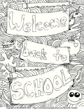 Top 20 Free Printable Back To School Coloring Pages Online | 350x271