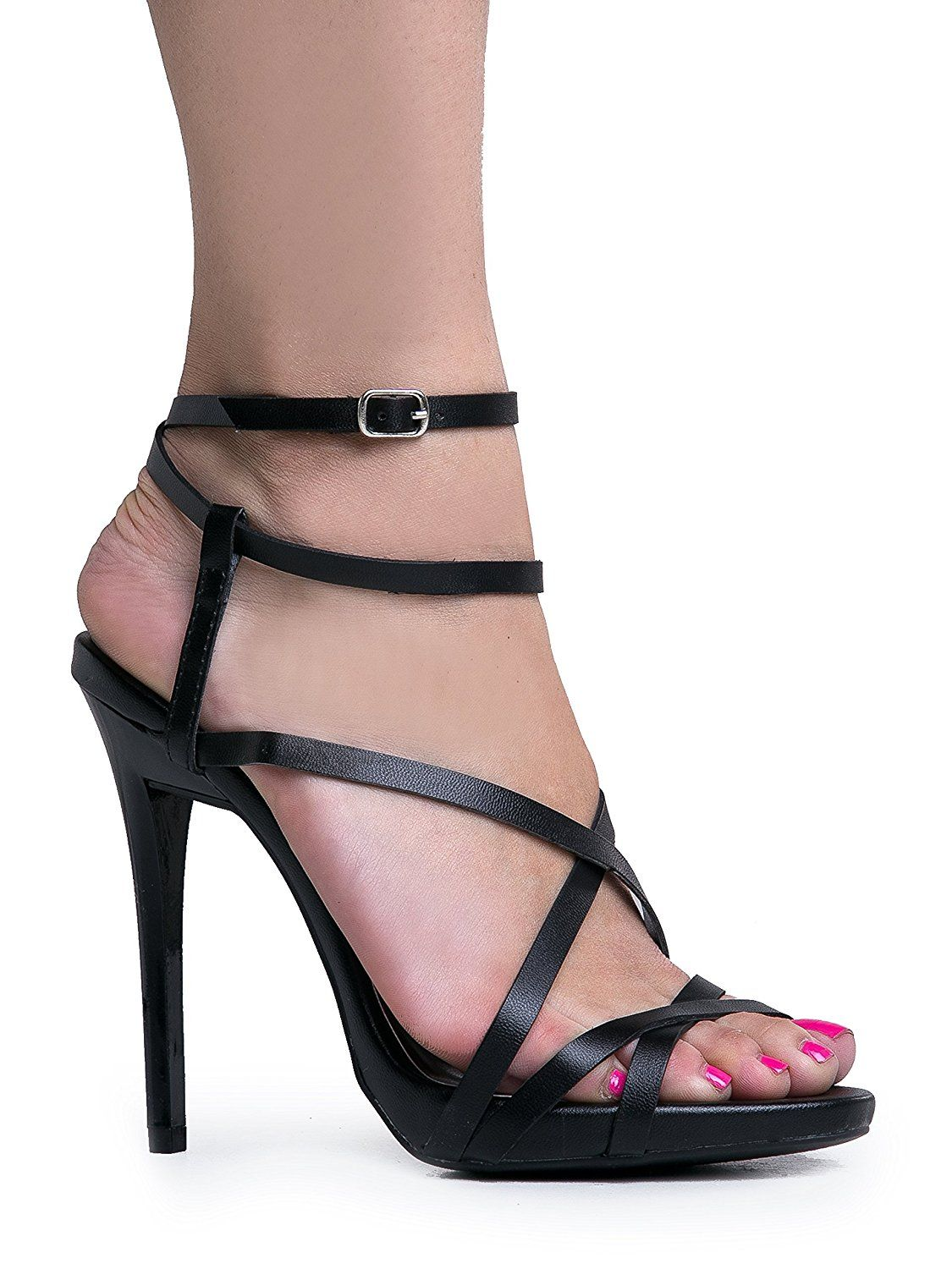 199461b4bde Women's Ankle Strap High Heel Sandals | Dress, Wedding, Party Heeled ...