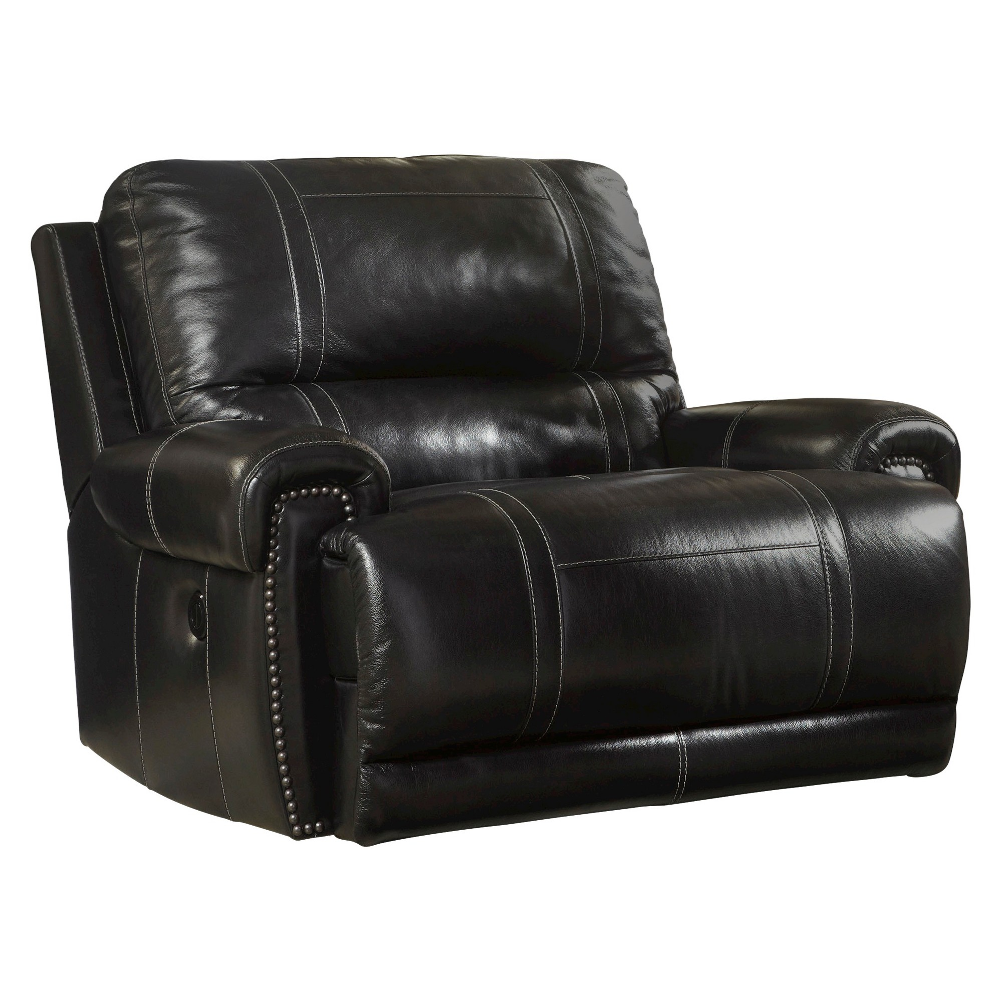 Paron Zero Wall Wide Seat Recliner Antique Signature Design By Ashley Black Wide Seat