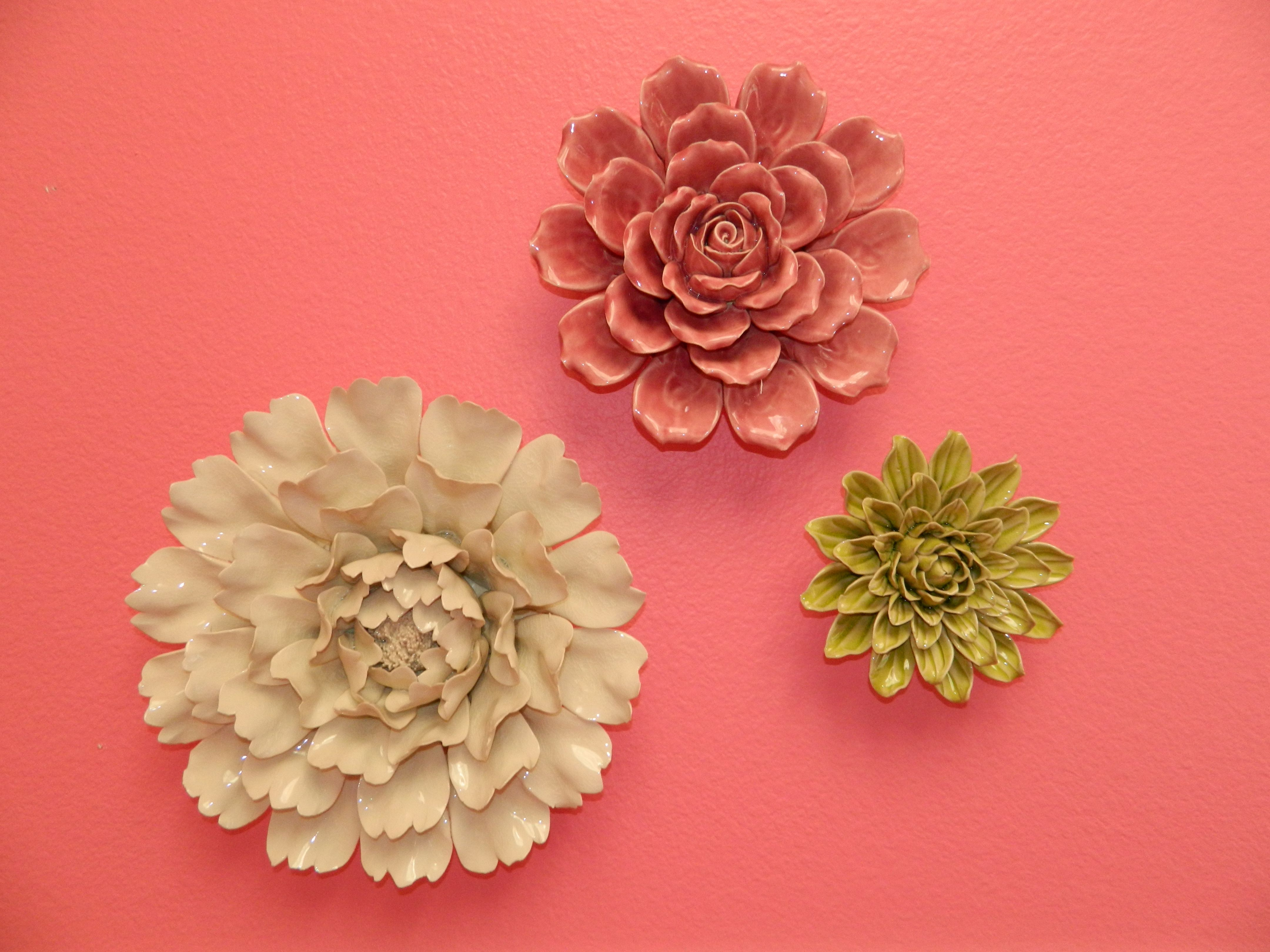 Ceramic wall flowers brighten up this childrens room ceramic just as in the field of plastics scientists are coming up with new ways to make use of ceramic wall decor flower amipublicfo Image collections