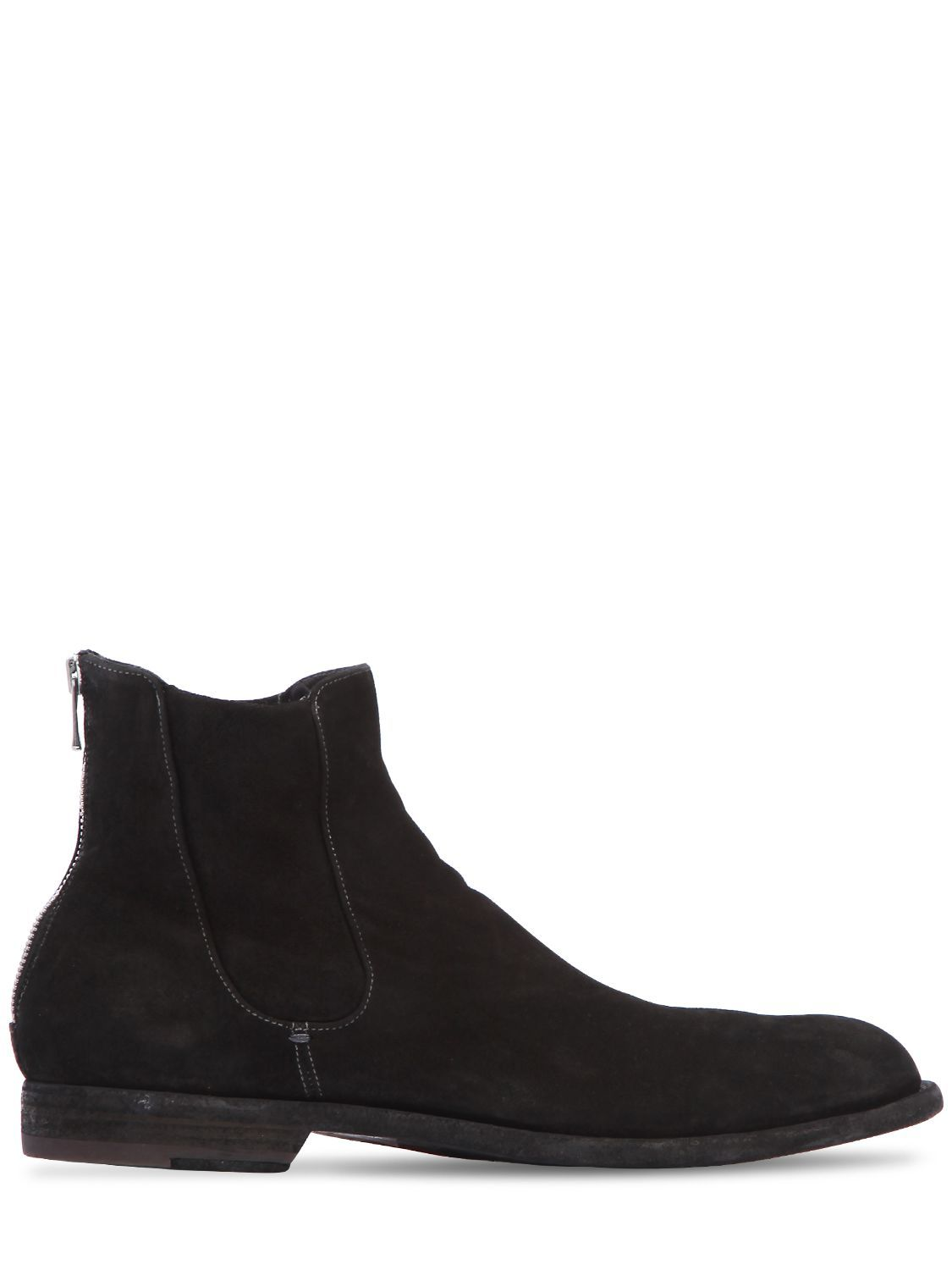 Officine creativeWASHED SUEDE CROPPED BOOTS AaPNohwG