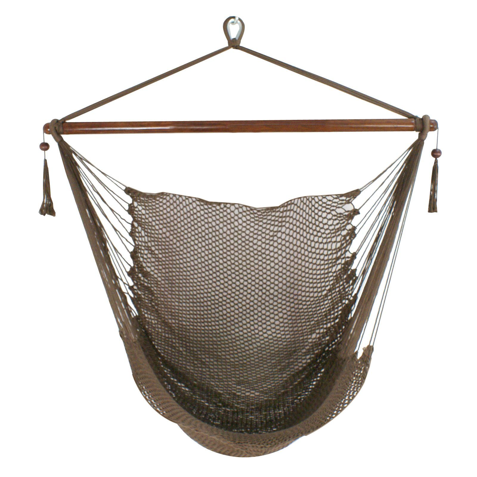 "Zeny Caribbean Hammock Swing Chair 48"" Hanging Rope Chair"