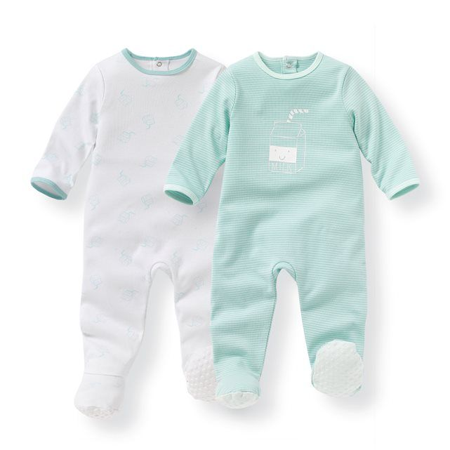 916fc9fe173a2 Pyjama coton 0 mois-3 ans (lot de 2) R mini   prix