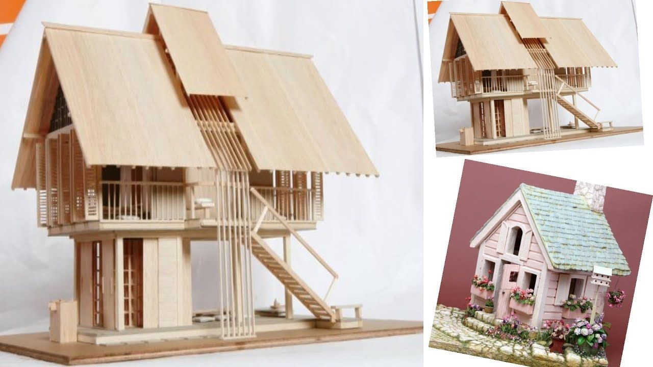 40 Creative Ideas Popsicle Stick House Ideas Projects