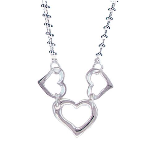 Tiffany Necklaces Jewelry Three Hearts Linking Silver Necklace  Availability:  In Stock  $136.67  $54.25  Save: 60% off