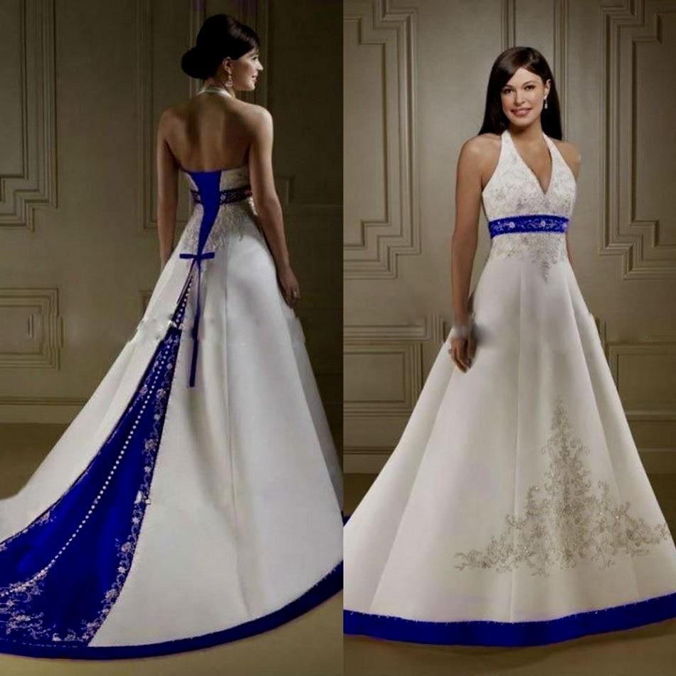 White and blue wedding dress   Wedding Dresses White and Royal Blue  Wedding Dresses for Fall