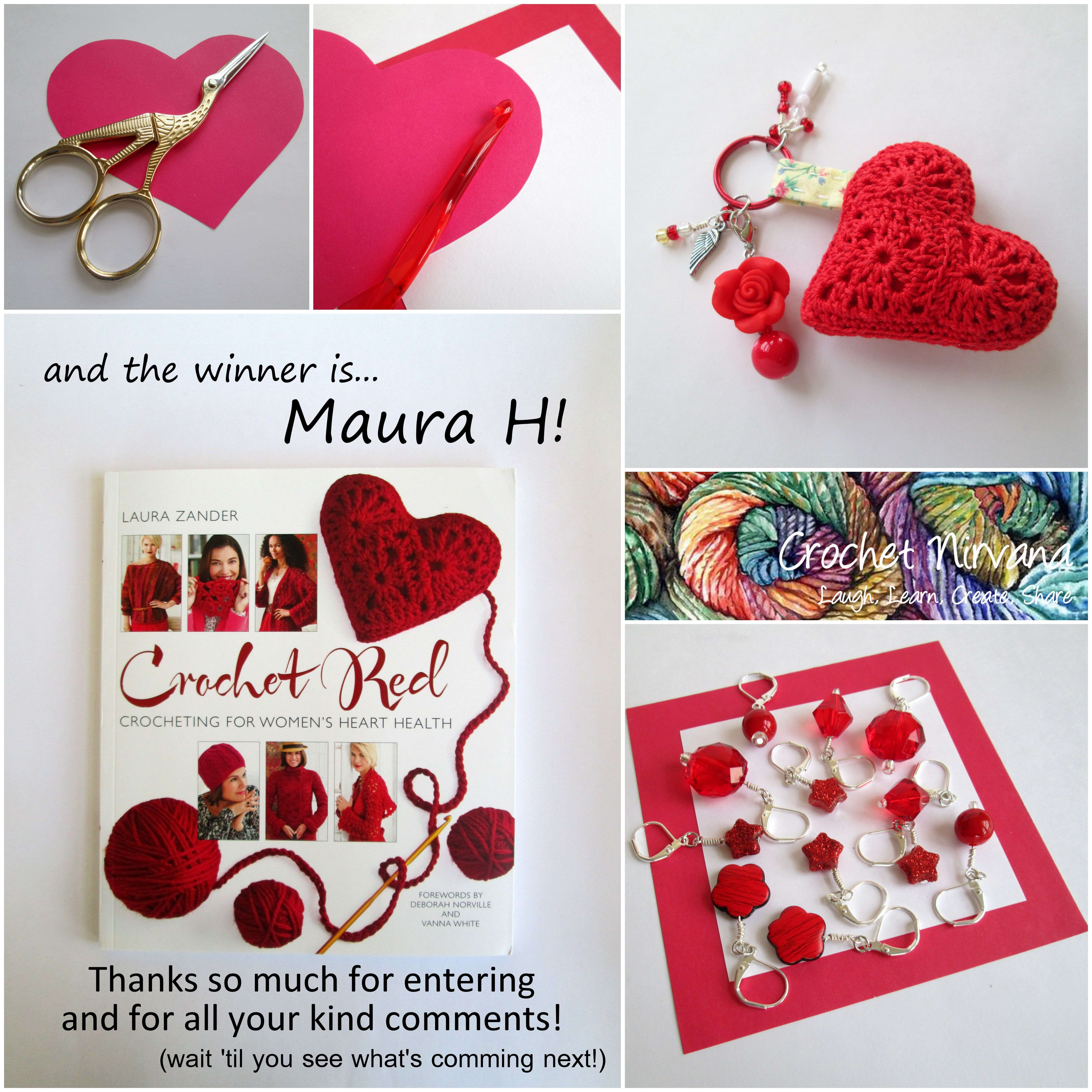 Congratulations Maura!  Come visit me on Facebook or send me an email CrochetNirvana@hotmail.com