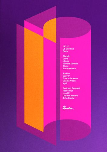 incredible use of typography - Poster to celebrate 15 years of Versatile Records - La Boca