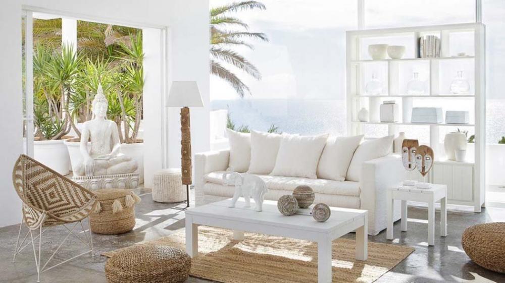 Idées déco estivale de style marin pour une maison de vacances