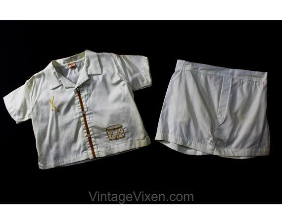 Little Drummer Boy 1950s Toddler's Shorts Set - Size 18 Months - Child 50s 60s Unworn Play Outfit wi #toddlershorts
