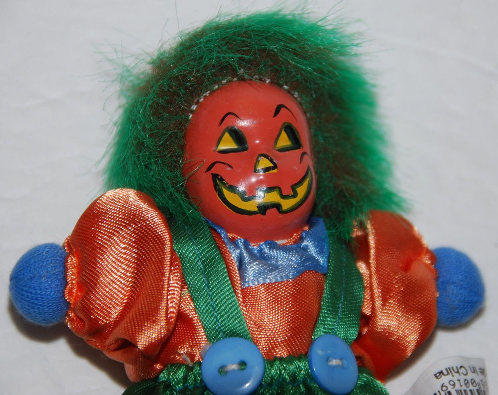 Creepy Pumpkin Head Doll Halloween Jack O Lantern 5