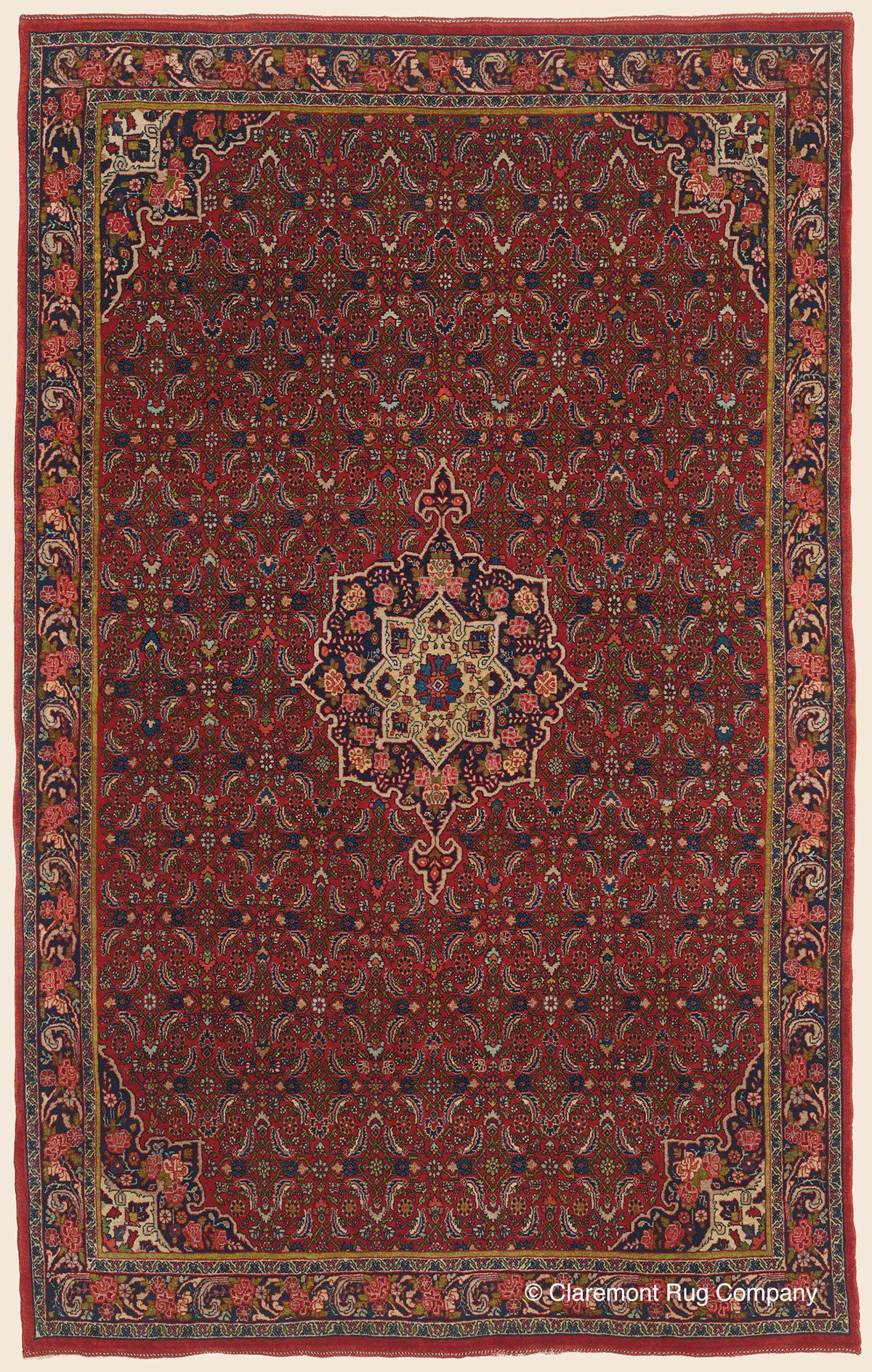 Halvai Bijar Northwest Persian Antique Rug Claremont Company
