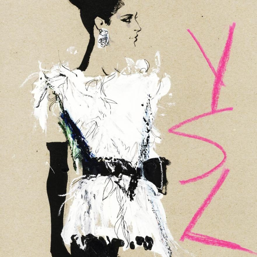 YSL illustration by David Downton