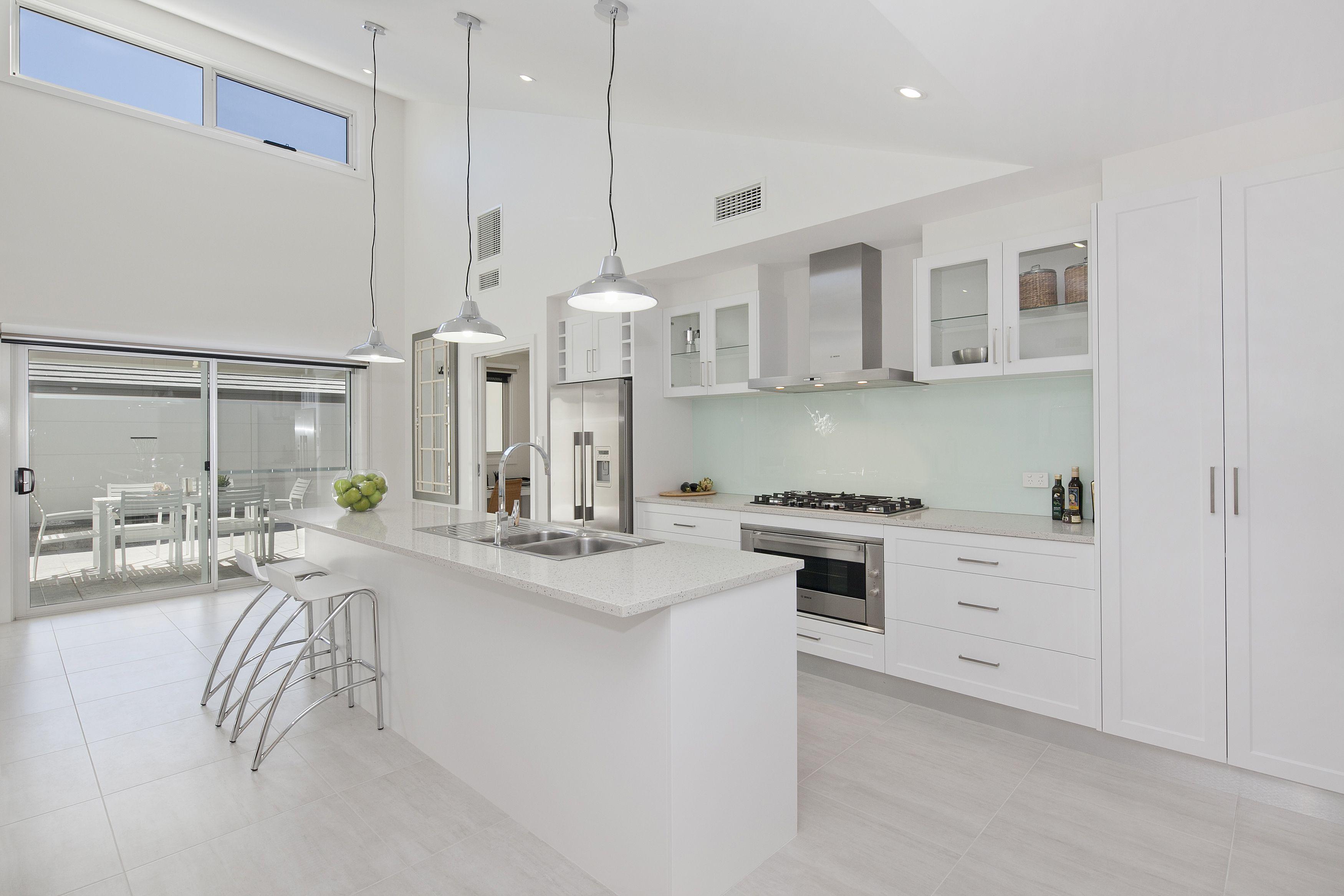 Raked Ceiling Kitchen Google Search Interior Design Kitchen Kitchen Wash Floors