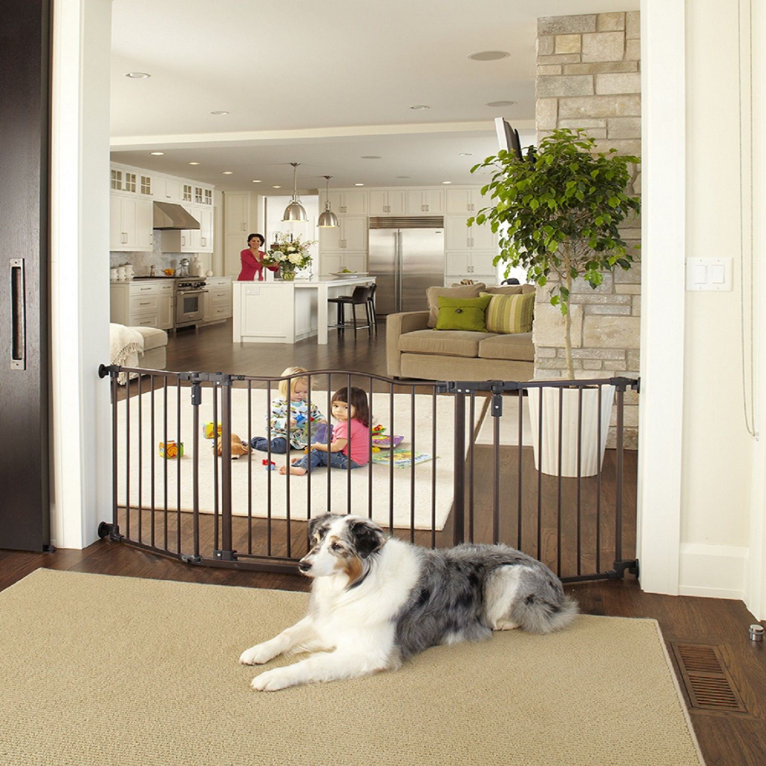 North states extrawide windsor arch pet gate wide baby gate