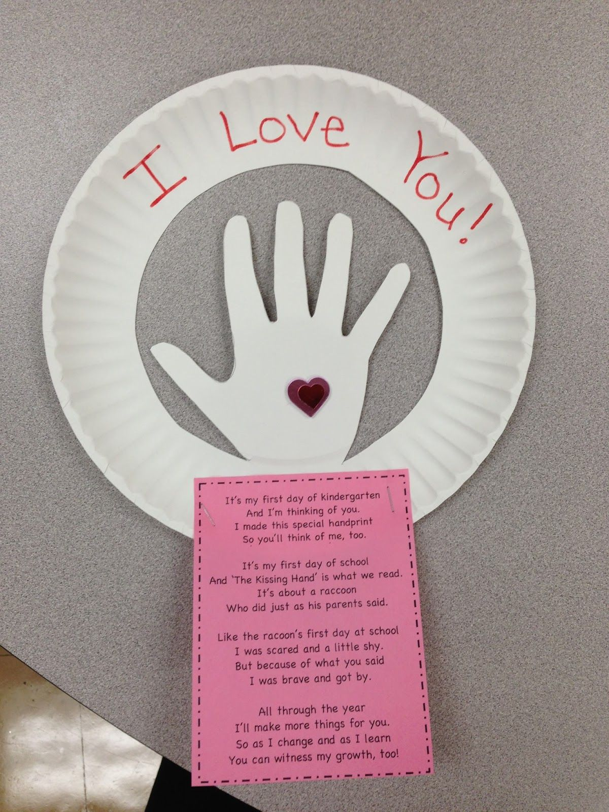 A Spoonful Of Learning First Week Of School The Kissing Hand By