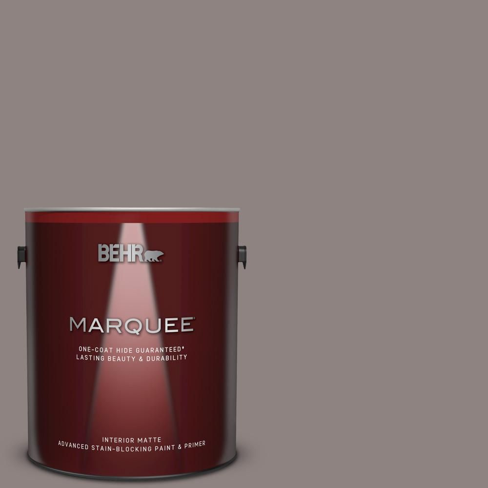 Behr Marquee 1 Gal Home Decorators Collection Hdc Cl 22g Roanoke Taupe Matte Interior Paint Primer Behr Marquee Behr Marquee Paint Interior Paint