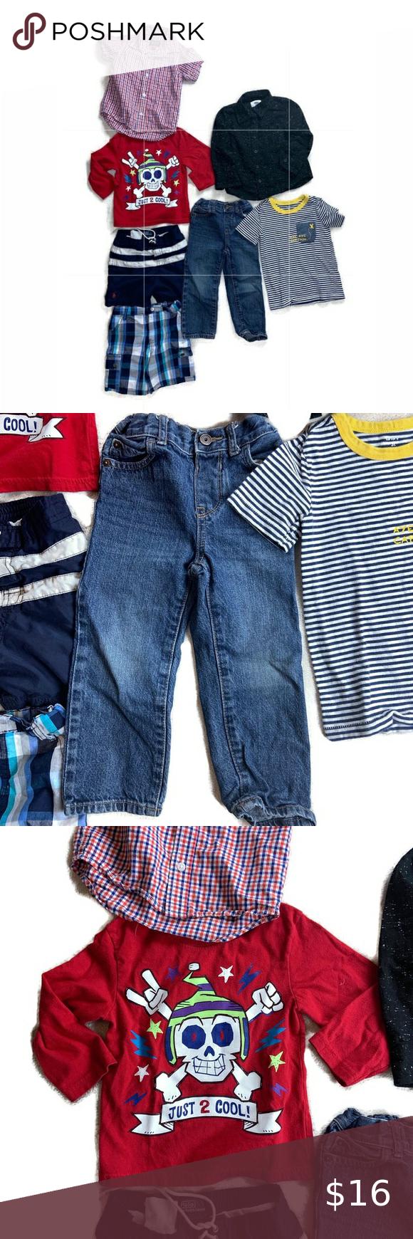 Toddler boys size 3T clothes mixed bundle 7 pcs Toddler boys mixed spring summboys