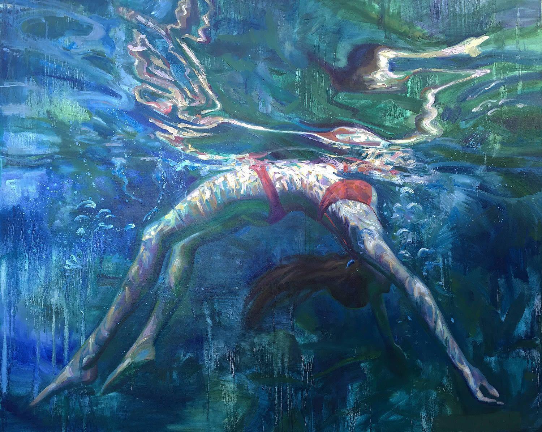 underwater paintings artwork - HD1400×1115