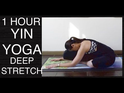 1 hour yin yoga full class  all levels total body stretch