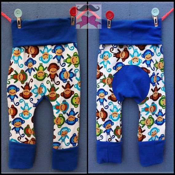 New to MustachesAndBows on Etsy: Happy lil Monkey Maxaloones (Monkey Pants) 9m-3yo (21.00 USD)