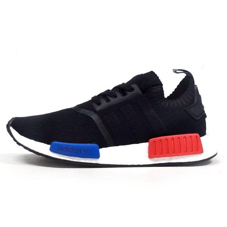 nmd r1 black red blue