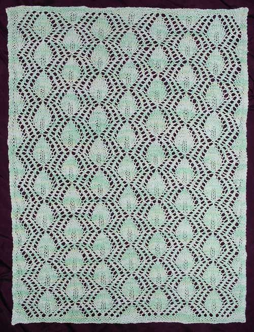 Free knitting pattern for a lace table runner with apple leaf motif ...