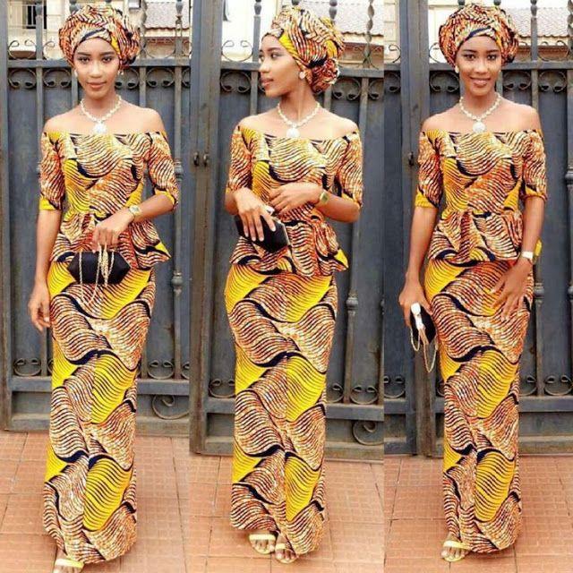 Checkout This Creative Aso Ebi Skirt and Blouse Style - DeZango Fashion Zone