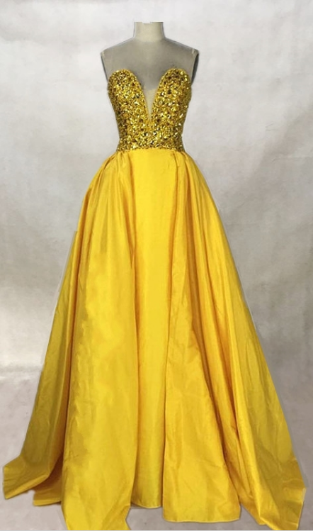 Beaded Long Prom Dresses A Line Backless Party Dresses Gold Silver ...