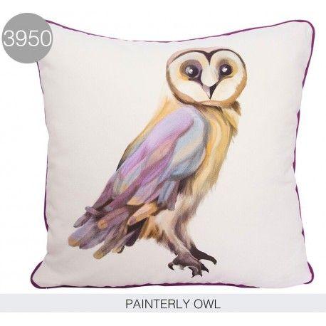 Cojín Painterly Owl. Cojín Painterly Owl de BrisaJardín