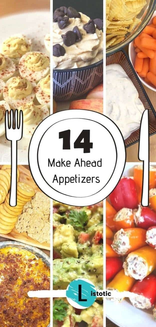 Photo of Make Ahead Holiday Appetizers that are EASY