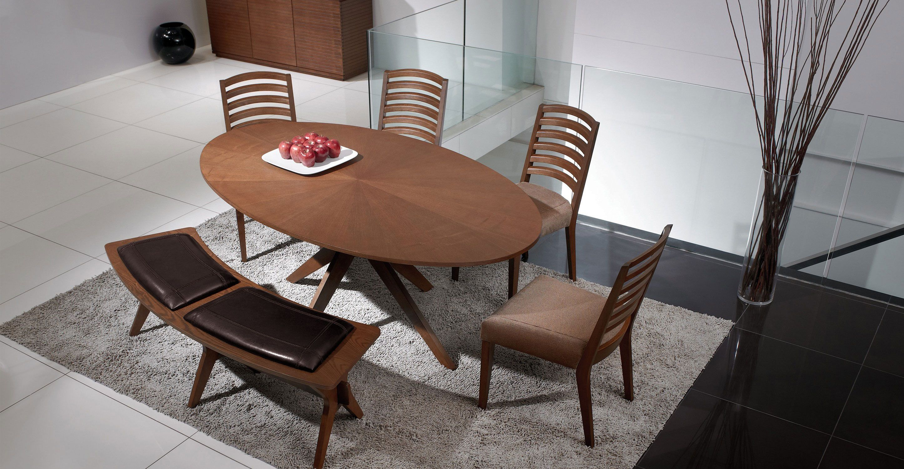 Conan Oval Dining Table With Images Oval Table Dining Modern